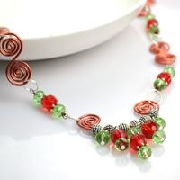 Handcrafted wire jewelry with unique necklace pendants