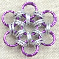 Japanese 12-in-2 chain maille-a flower shape chain maille