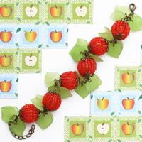 Handmade bead bracelet pattern- simple way to DIY apple bracelet