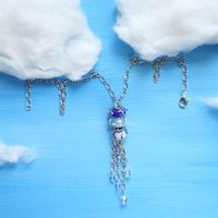 Unique handmade necklaces idea- how to make raindrop necklace