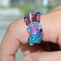 Custom made beaded jewelry- gradient color ring