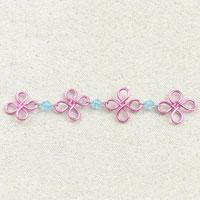 Handmade Flower Design Wire Chain