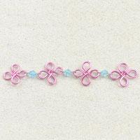 Handmade Flower Design Wire Chain