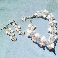 How to Make a Butterfly Rose Garden Bracelet and Earring Set