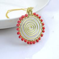 All Free Jewelry Making for You- How to Make a Wire Necklace in a Sunflower Pattern