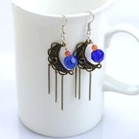 How to Make Jewelry with Wire and Beads- Fantastic Galaxy Beaded Earrings