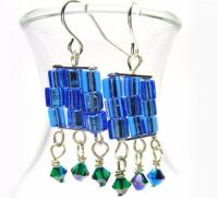 Beaded Jewelry Making Ideas-Handmade Crystal Earrings
