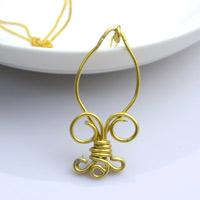 Copper Wire Jewelry- Royal Badge Pendant Necklaces for Women