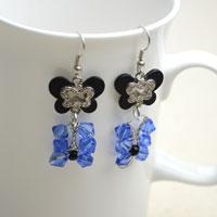 2-Step on How to Make Butterfly Crystal Earrings with Glass Beads and Alloy Link