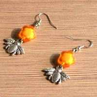Easy Craft for Making Flower and Bee Earrings