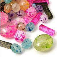 Fashionable Spray Painted Acrylic Beads