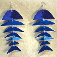 How to Make Paper Earrings- Pair of Cool Fish Skeleton Earrings