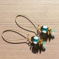 DIY Ocean Blue Earrings-The Mysterious Gift From Water Sprite