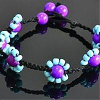 Как сделать ножной браслет - ножной браслет для женщин, украшенный с бисерными цветками