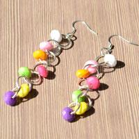 Handmade Earring Ideas- How to Make Beaded Chain Earrings