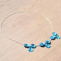 Learn To Make Blue Acrylic Rhinestone Necklaces