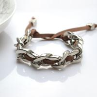 Make Chain Bracelet with Suede Cord in Easy Steps
