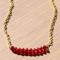 DIY Gorgeous necklace- How to Make Red Beaded Necklace
