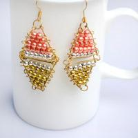 Handmade Beaded Jewelry Ideas - Make Triangle Reflection Earrings