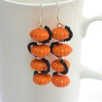 Fashion Jewelry Idea - How to Make Homemade Pumpkin Earring