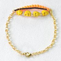 How to Make a Skull Bracelet with Chain and Diverse Beads