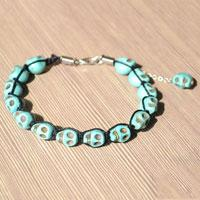 Shamballa Bracelet Design - How to Make Shamballa Bracelets with turquoise skull beads