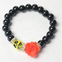 DIY Charming Bracelet Tutorial - How to Make Black Beaded Bracelet