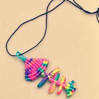 How to make a charm necklace out of the 2mm Nylon thread
