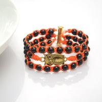 Make a Beaded Owl Bracelet Out of Beads and Nylon Thread