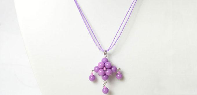 Design a Fashion Purple Pendant Necklace within 15 Mummies