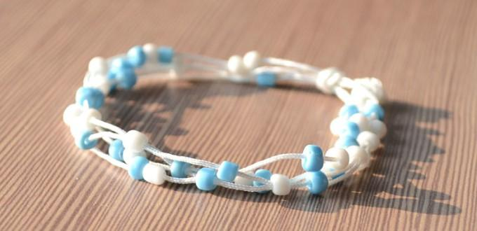 How to Make a Wonderful Multi Strand Bracelet out of Beads and String