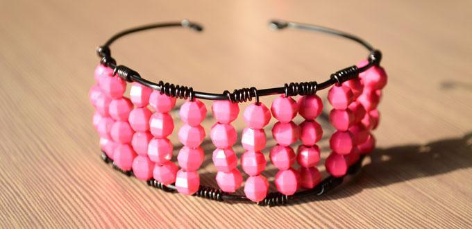 Easy Tutorial on Making Beaded Bangle Bracelet