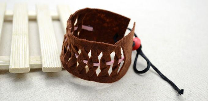 How To Make A Woven Leather Cuff Bracelet Beginner