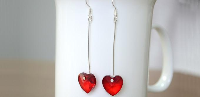 Easy Introduction on Making Red Heart Drop Earrings