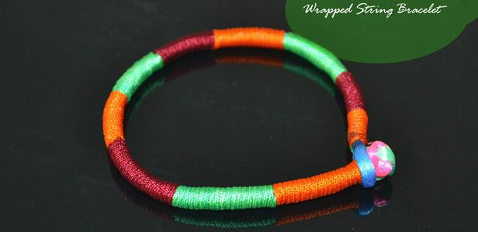 How do You Make a Wrap Bracelet with 3 Colored Strings