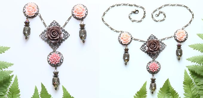 How to Make a Vintage Flower Pendant Necklace with Step-by-Step Pictures