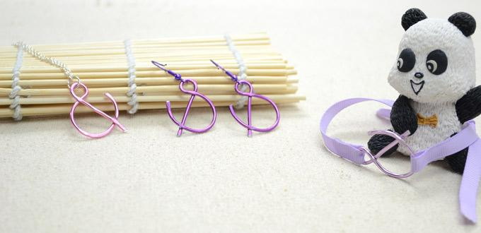 "Instructions on Making Wire Wrap ""And"" Sign Jewelry Set"