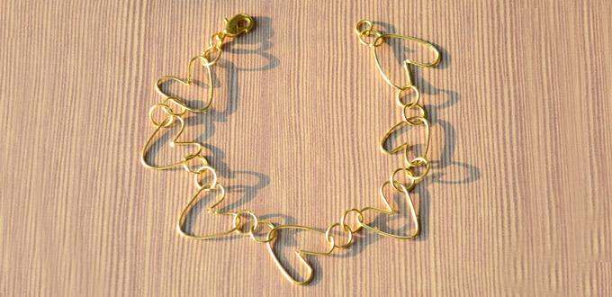 Easy Tutorial on Making Heart Wire Bracelet