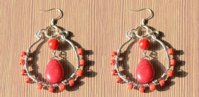Easy Introduction on Making Red Chandelier Dangle Earrings