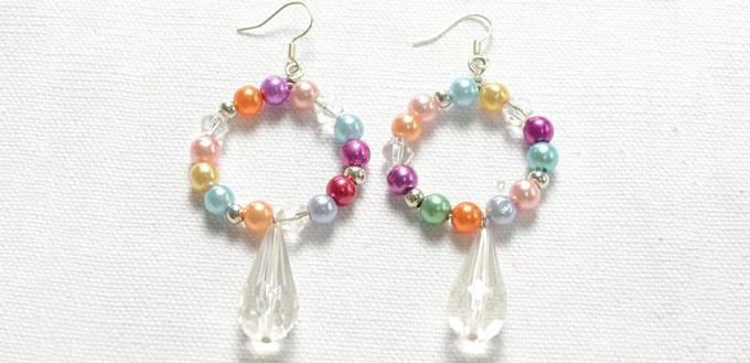 Step By Guidance On How To Make Beaded Hoop Earrings With Pearl