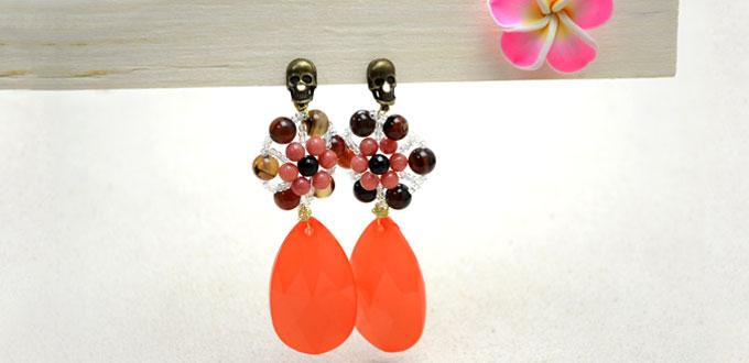 How to Make Floral Statement Earrings with Beads and Wire