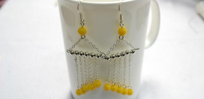 Easy Tutorial on Making Long Curtain Dangle Earrings for Women