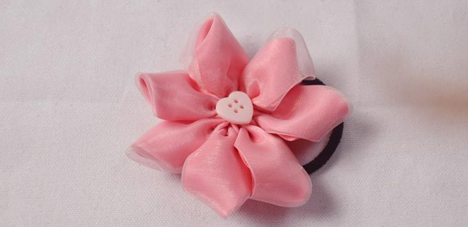 How to make pink ribbon flower hair ties for your little princess how to make pink ribbon flower hair ties for your little princess mightylinksfo