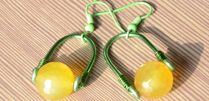 An Instruction of DIY Yellow Wire Earrings