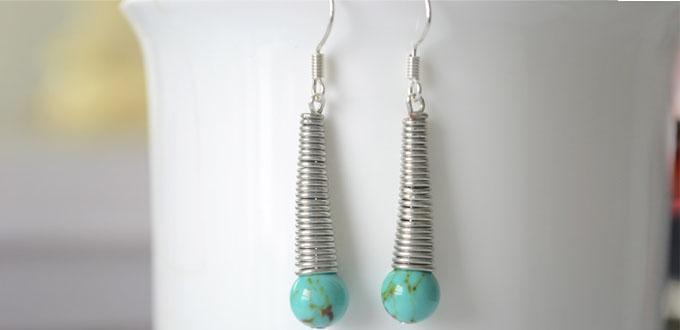 Easy Tutorial on Making Turquoise Drop Earrings