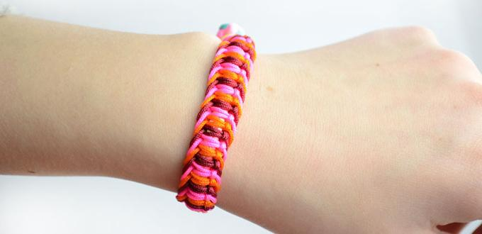 How to Braid a Flat Hemp Macrame Bracelet in a Different Way