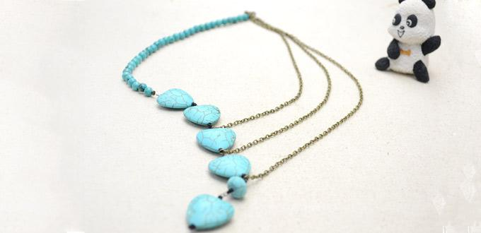 how necklace a chain beaded to steps make long chains easy on turquoise articles