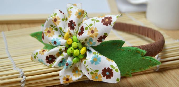 big fabric flowers how to make