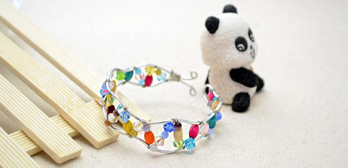 How to Make a Wire Wrapped Bangle Bracelet by Using Leftover Beads