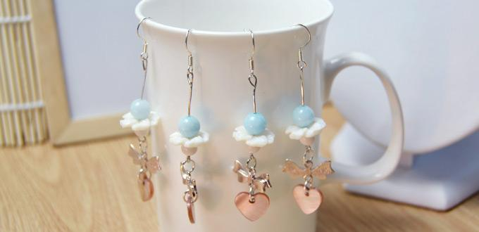 How to Make Simple Dangle Earrings with Beads for Sweet Girls